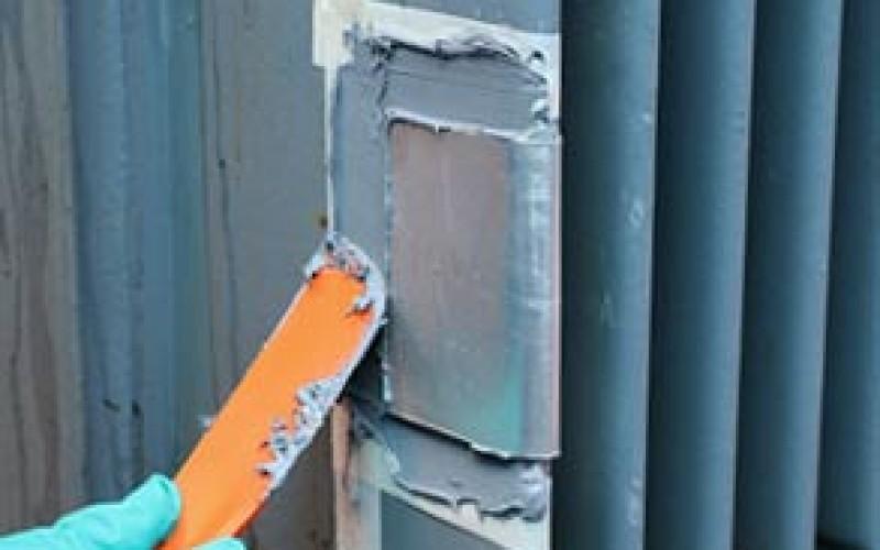 Oil leak on transformer sealed in-situ using Belzona 1212
