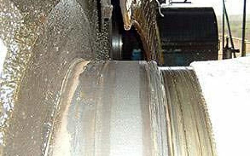 Completed repair of worn shaft