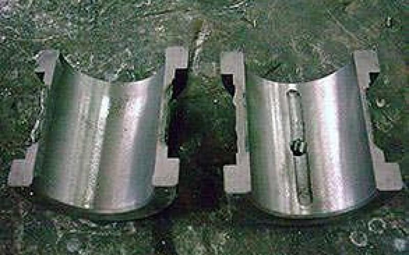 Damaged friction bearing