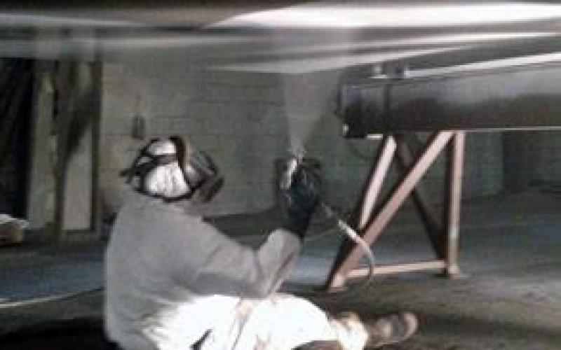 Coating of barge bottom using Belzona 1331