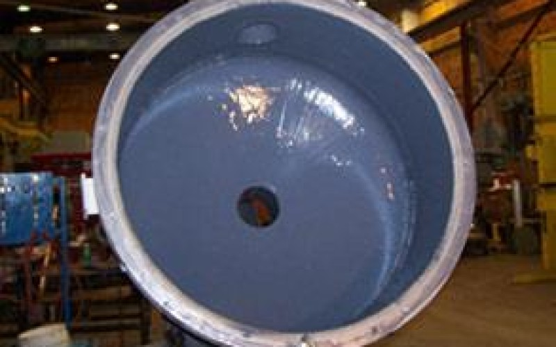 Corrosion damage repaired using Belzona 1391 (Ceramic HT)
