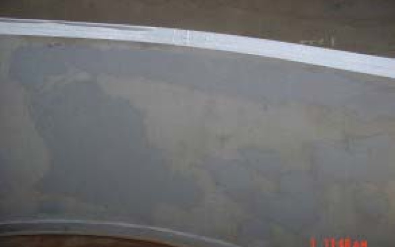 Resurfaced using Belzona 1511 (Super HT-Metal) prior to application of protective coating