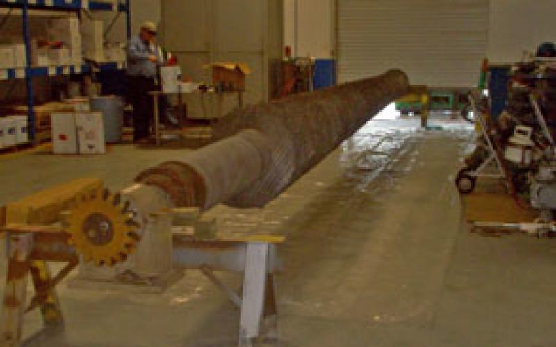 New screw conveyor requiring abrasion resistance
