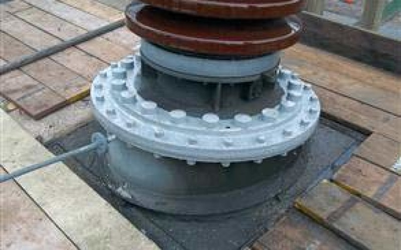 Flange sealed and bolts encapsulated