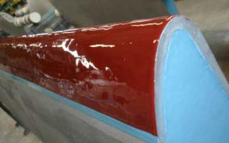 Belzona 2121 (D&A Hi-Coat Elastomer) applied to offer abrasion resistance