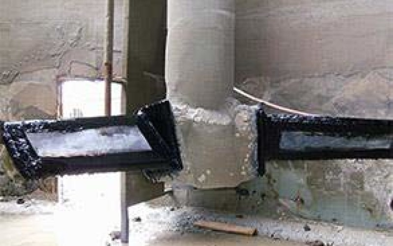 Blade repaired and coated with Belzona 2131 (D&A Fluid Elastomer)