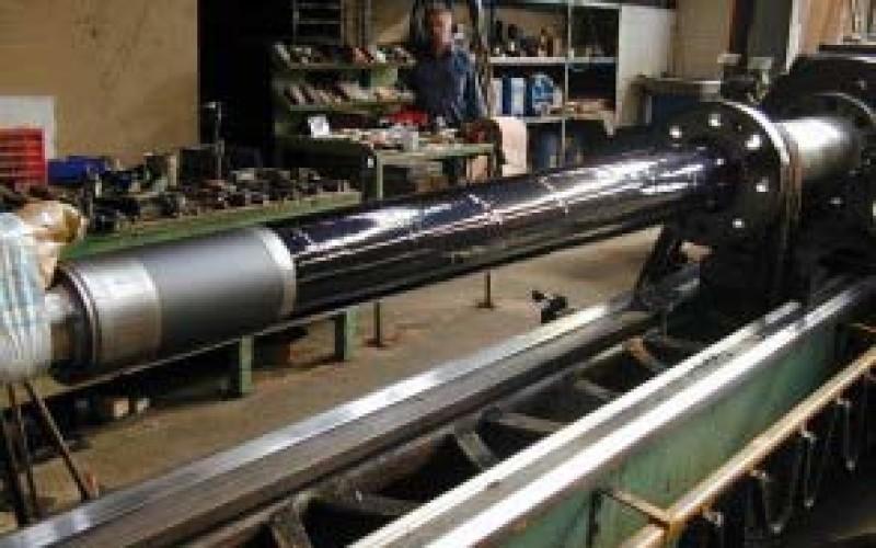 Belzona 2141 (ACR-Fluid Elastomer) applied to shaft