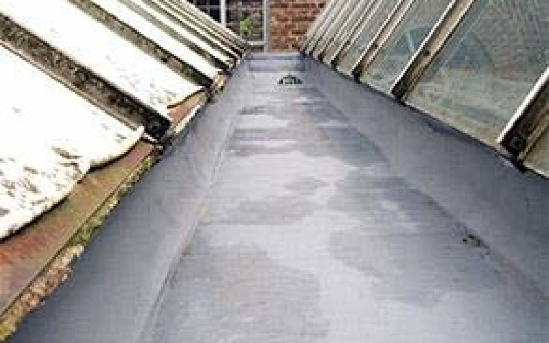 Gutter protected using Belzona 3111 (Flexible Membrane)