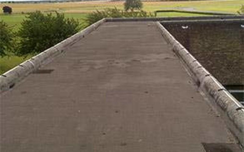 Damaged building roof