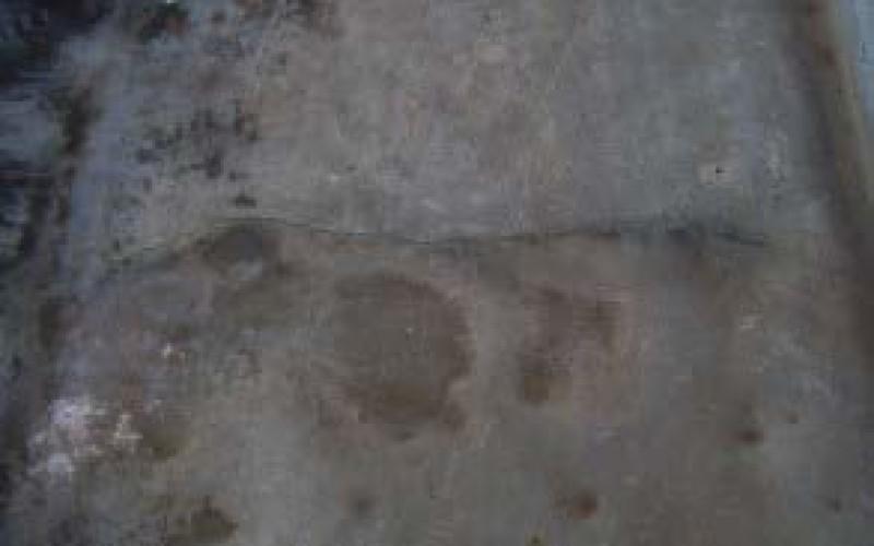 Cracks in lead roof