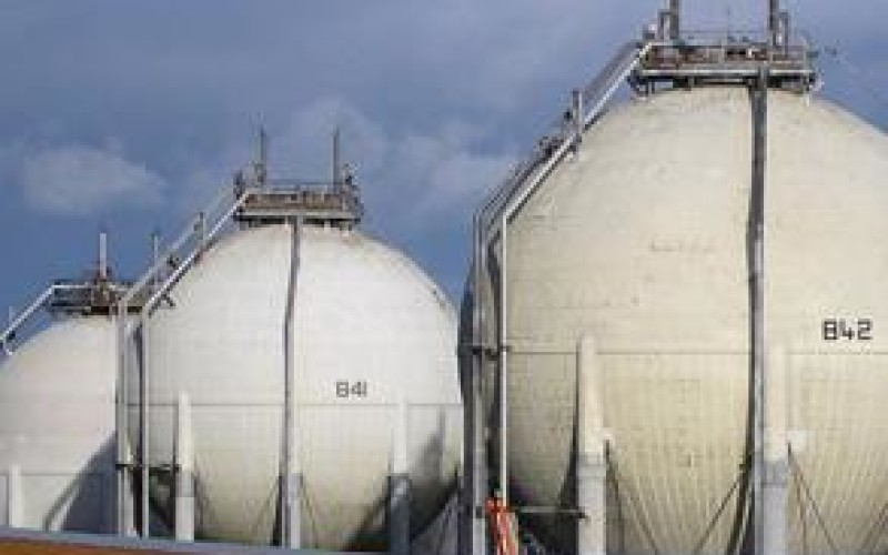 Insulated LNG spheres are also easily protected
