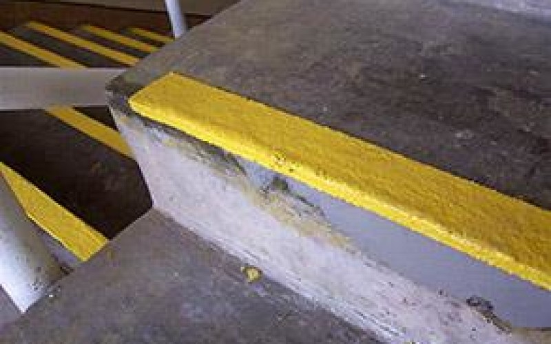 Steps repaired and protected from future damage with Belzona 4111 (Magma-Quartz)