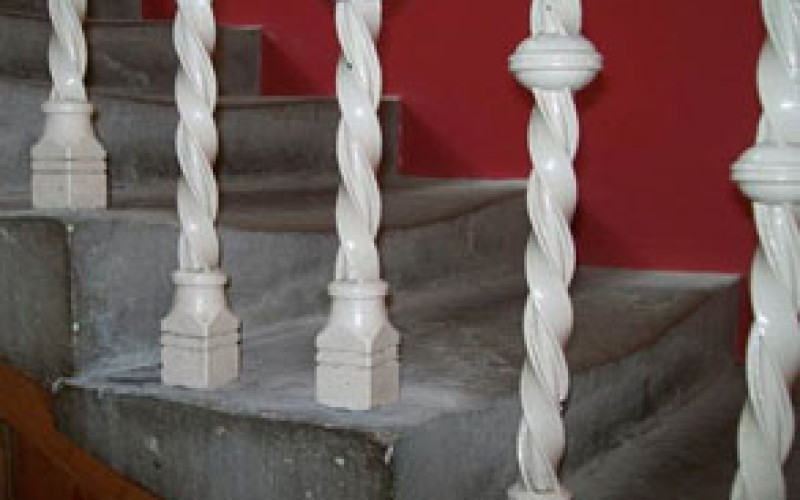 Concrete steps worn by up to 50mm