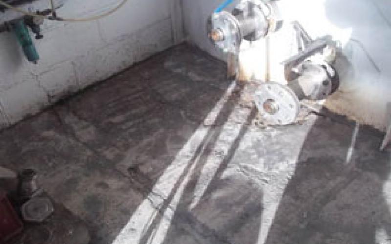 Cider manufacturer floor requiring refurbishment