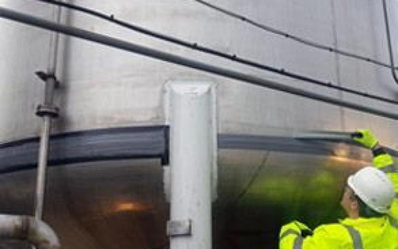 Seams repaired in-situ using Belzona 4301 (Magma CR1 Hi-Build)