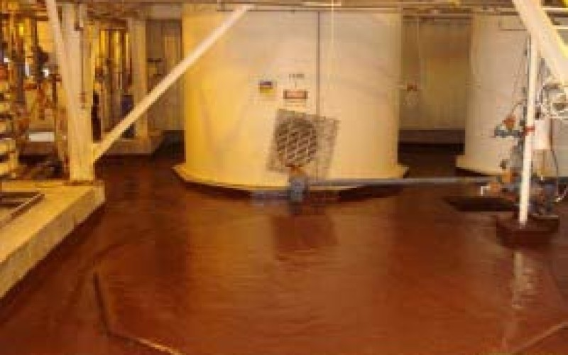 Coating of bund area containing 98% Sulphuric Acid