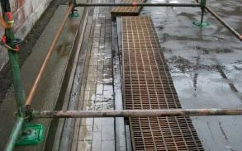Damaged porous chemical drain