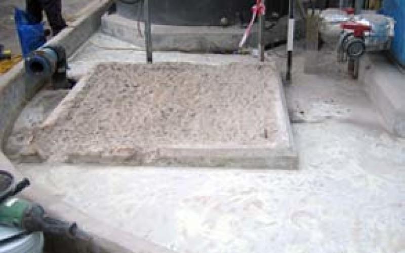 Bund area before coating