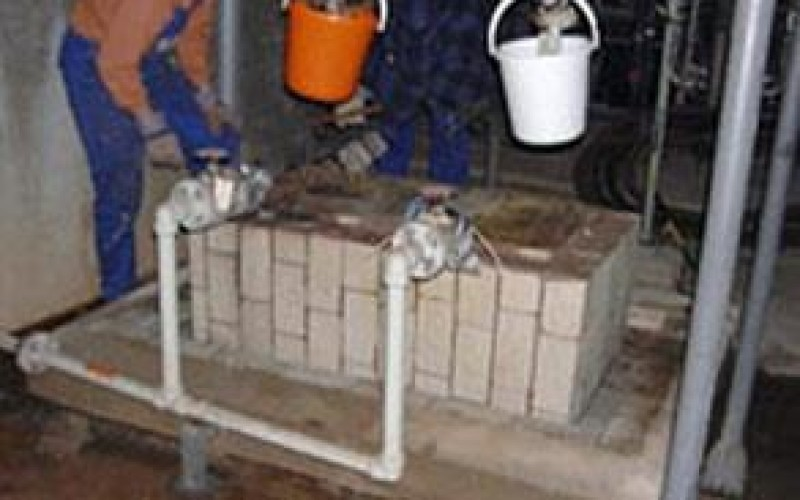 Leaking sulphuric acid had damaged pump base