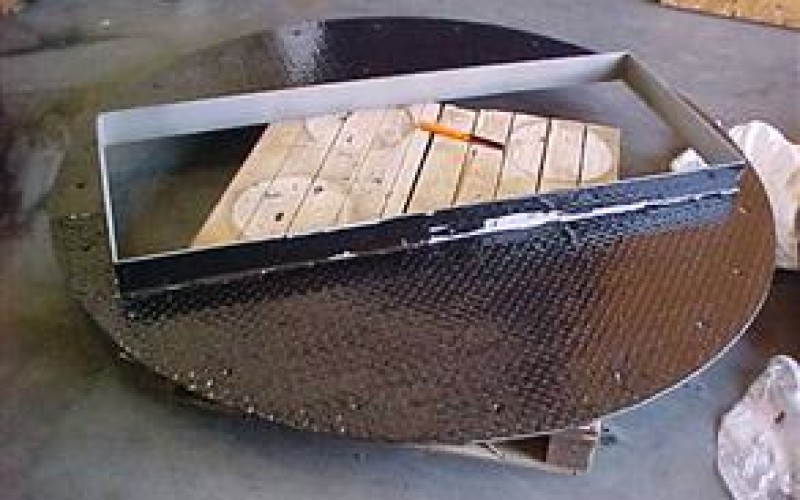 Plate coated with Belzona 4341 (Magma CR4) for excellent resistance to the hot acids