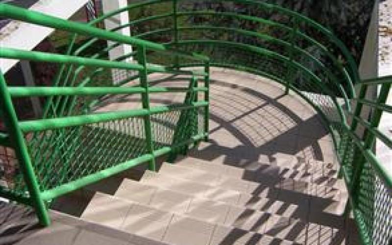 The original external staircase
