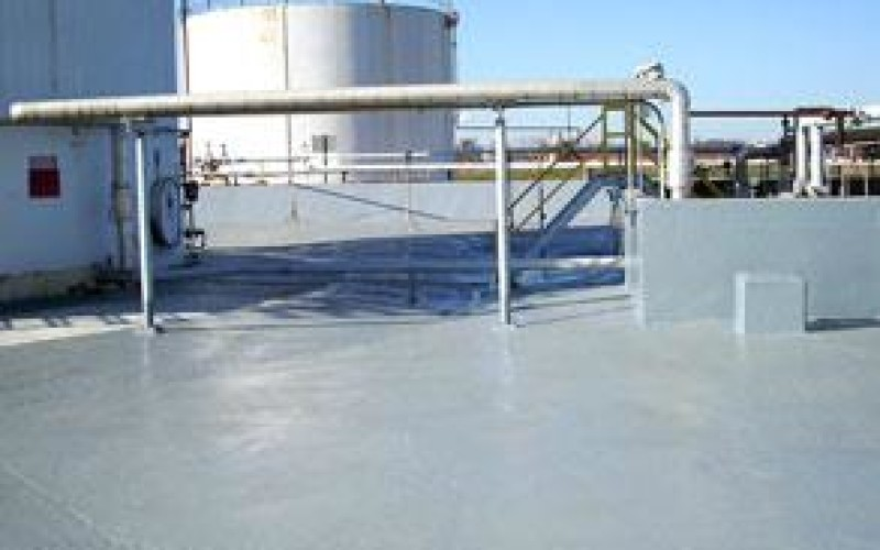 Containment area protected and expansion joints sealed using Belzona 4521 (Magma-Flex Fluid)