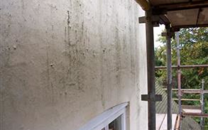 Deteriorated exterior building wall