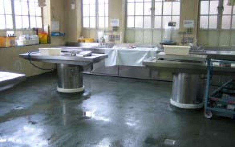 Damaged and uneven hospital floor causing safety issues