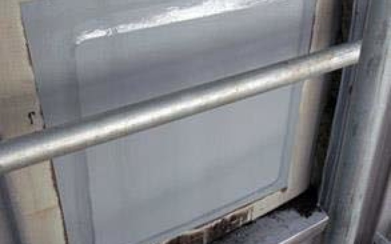 CUI damaged repaired by cold plate bonding and coated with Belzona 5811 (Immersion Grade)