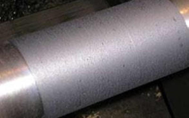 Shaft repaired using Belzona 1131 (Bearing Metal)